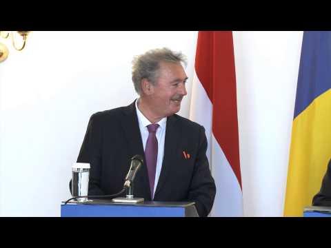 Conferință comună de presă Bogdan Aurescu – Jean Asselborn