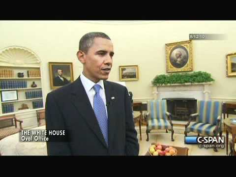 President Obama on the Oval Office