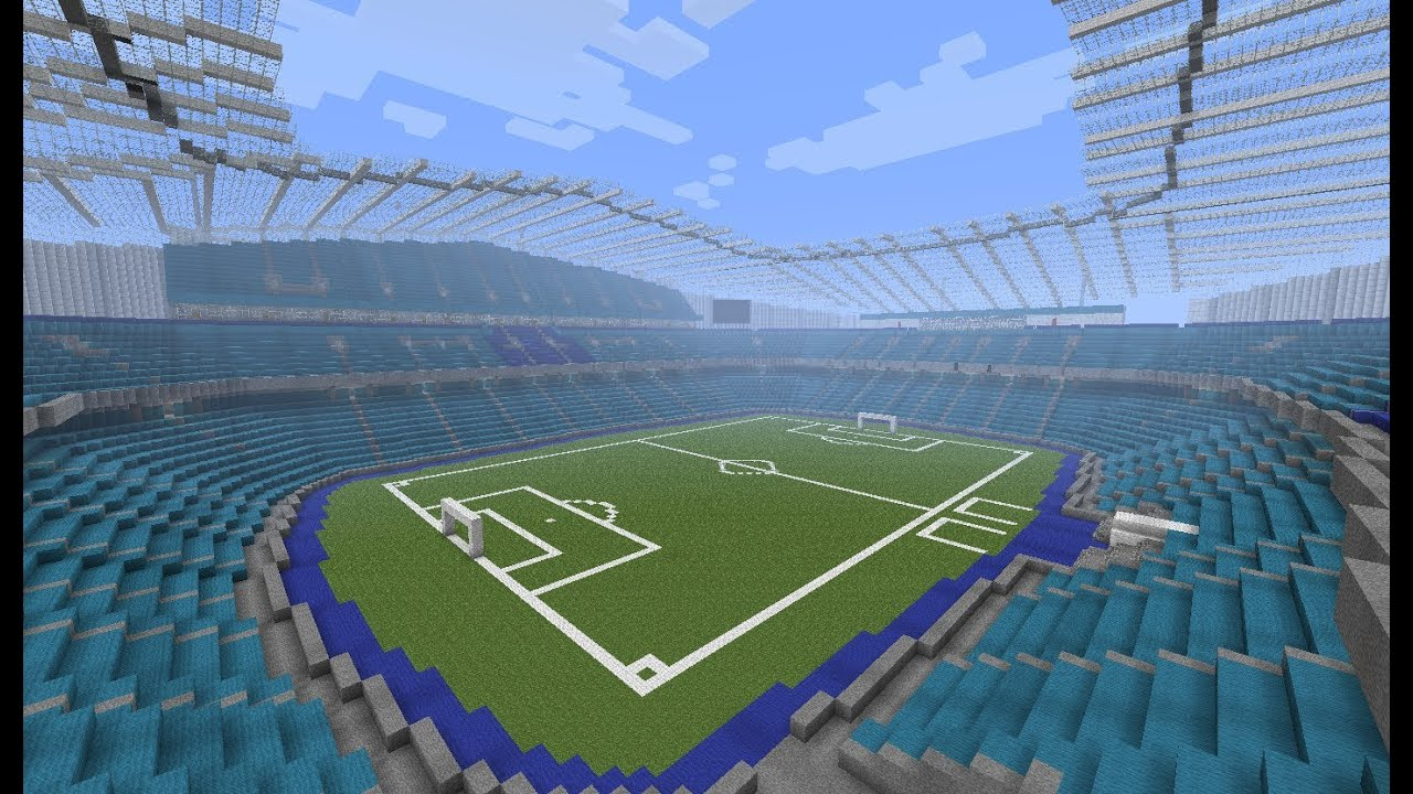 Manchester City Etihad Stadion W Minecraft Save Youtube