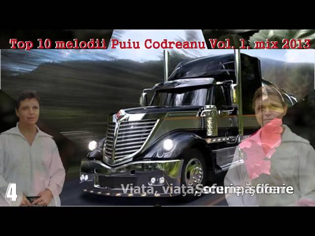 CELE MAI ASCULTATE 10 MELODII, PUIU CODREANU, MIX 2013, ZOOM STUDIO
