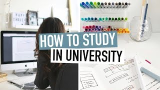 HOW TO STUDY FOR EXAMS IN UNIVERSITY | ultimate study tips + guide for college