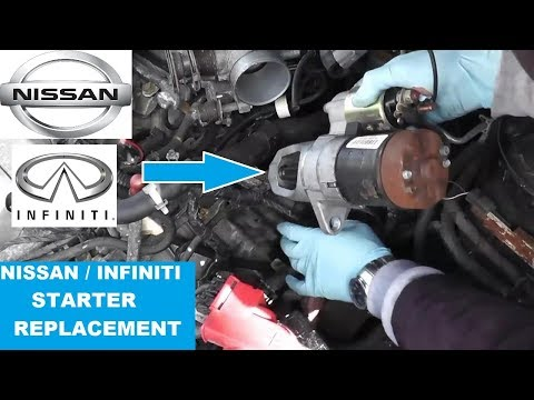 Nissan Maxima / Infiniti Starter Replacement with Basic Hand Tools HD