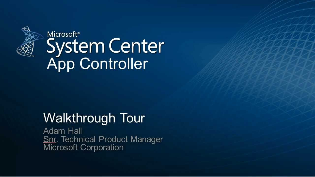Controller Control System System Center App Controller