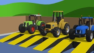 Learn Colors with Tractor and other machines & Cartoon for babies | Compilation / Kolory #BAJKI
