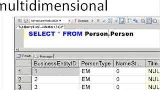 Comparing Relational Databases to Multidimensional Databases in SQL Server 2008/R2 Analysis Services