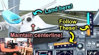 How To Manually Land an Airliner in Flight Simulator! [Prepar3D V4]