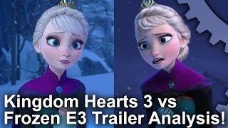 [4K] Kingdom Hearts 3 vs Frozen! Graphics Comparison + E3 2018 Trailer Analysis