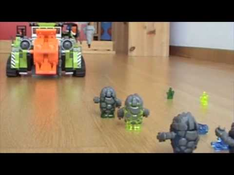 Lego Power Miners: rock monster´s final day.