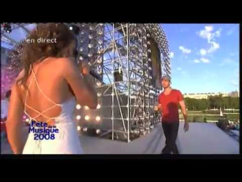 Enrique Iglesias & Nadiya - Fete de la musique 2008 - Tired of being sorry