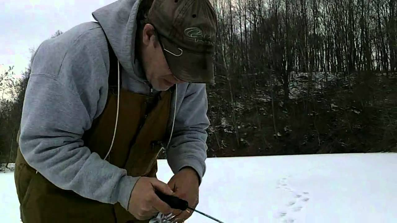 Ice Fishing Bluegill Ice Fishing a Stripmine Pond