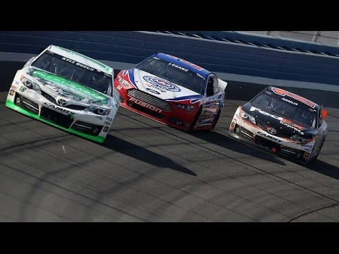 3/24/13 - Fontana - Kyle Busch wins, while Logano and Hamlin mix it up