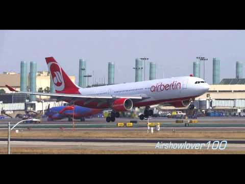 Air Berlin Airbus A330-200 Landing LAX