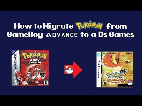 How to migrate Pokemon from GBA to DS