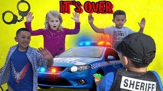 POLICE MAKE UNEXPECTED ARREST! KIDS HIDEOUT FOUND! COP KIDS PATROL 👮🚔