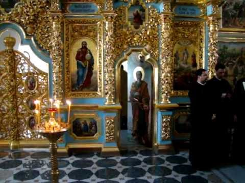 2012 08 05 5 Kyiv Pechersk Lavra Byzantion singing MOV01927