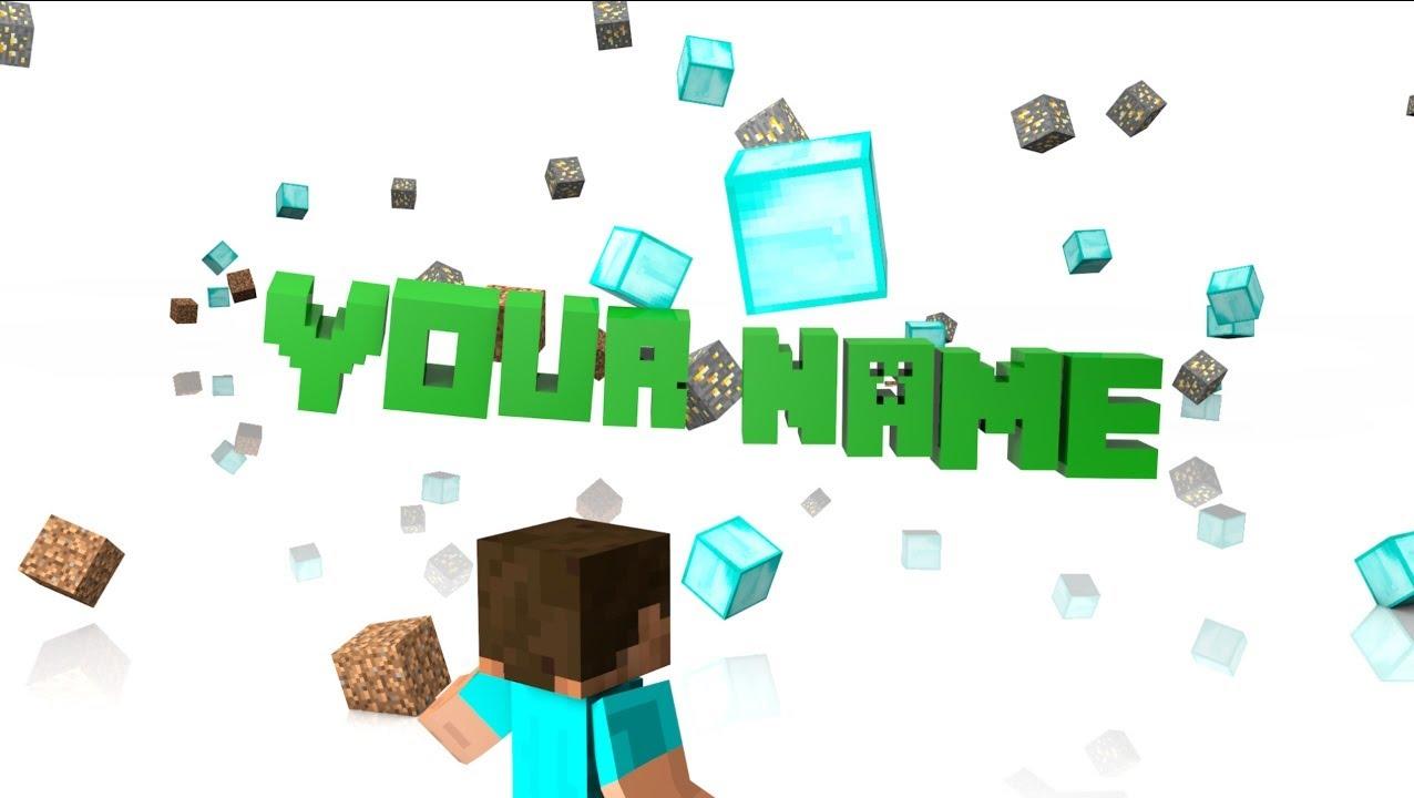 Free Minecraft Intro Template