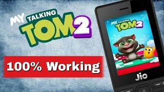 Playing My talking tom in Jio Phone 100% original in Hindi