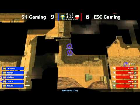 WCG Final : ESC vs. SK @ dust2