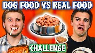 DOG FOOD VS REAL FOOD CHALLENGE! (ft. Teens React Cast)   Challenge Chalice