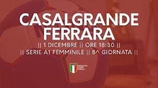 Serie A1F [8^]: Casalgrande - Ferrara 27-24