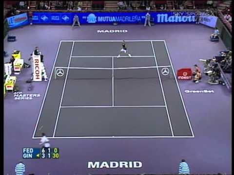 Roger Federer VS Robby Ginepri -- Madrid 2006 Highlights