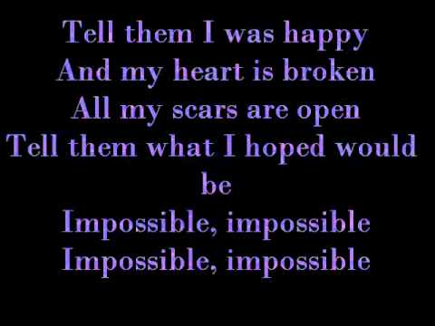 Maddi Jane  - Impossible By Shontelle W  Lyrics video