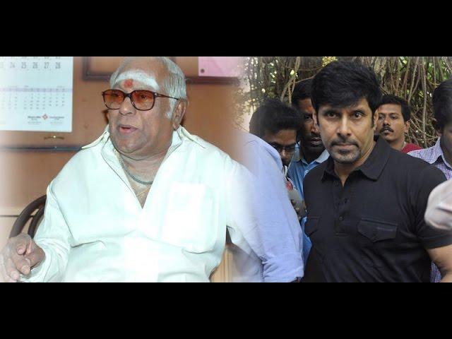 Vikram condolences Speech about MS Viswanathan Death