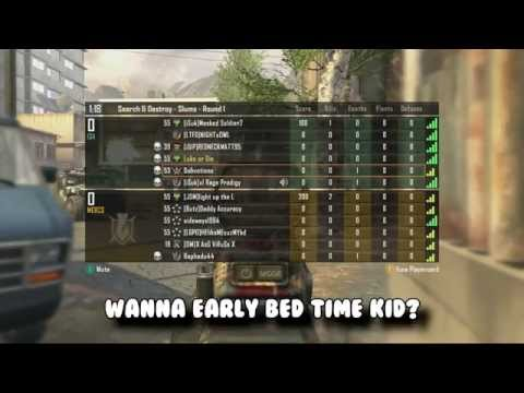 COD Black Ops 2: WANNABE HACKER SAYS IT'S BED TIME (TROLLING SCRIPT KIDDIES)