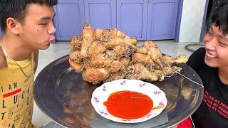 Làm Chiếc Đùi Gà Rán Khổng Lồ ( Giant fried chicken )
