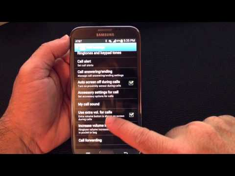 Samsung Galaxy Note 2 Tip 11:  How to boost phone volume when taking calls