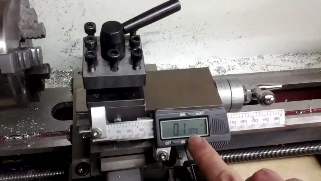 Mini Lathe With Digital Read Out Dro Youtube