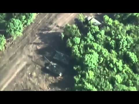 Drones Find Russian Base Inside Ukraine: Dnipro-1 volunteer pro-Ukraine group footage