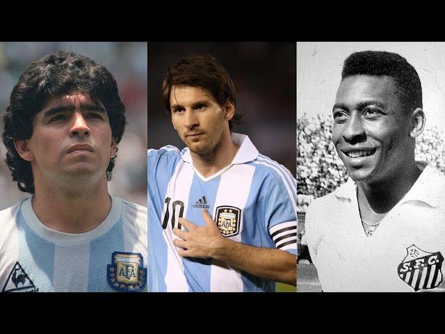 Messi vs Pelé vs Maradona ● Best Goals Battle  HD 