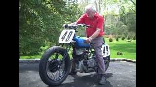Starting 1937 Indian Sport Scout Motorcycle Racer Butch Baer