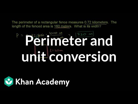 Khan Academy - Perimeter And Unit Conversion
