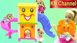 Đồ chơi trẻ em BÚP BÊ BARBIE ĐI CHƠI CẦU TUỘT CON ẾCH & GẶP BẤT NGỜ KHÓ VỀ NHÀ KN Channel
