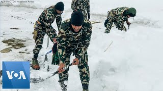 Rescuers Search for Missing South Korea, Nepal Trekkers After Avalanche in the Himalayas