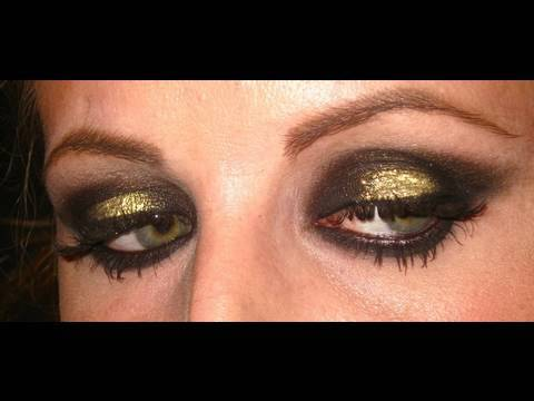 Makeup Tutorial trucco Gold and Black.