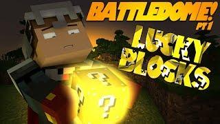 """Minecraft LUCKY BLOCK MOD BATTLEDOME! """"NOOOOO!"""" Pt 1 (Modded Battledome)"""