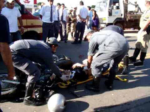 Acidente de moto - Imagens Alfenas Hoje