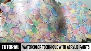 DIY Unique video! How to make Polymer clay Watercolor technique with acrylic paints. Video Tutorial
