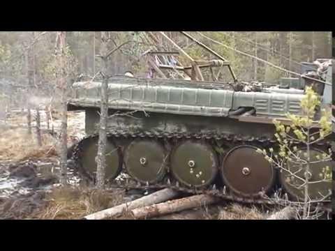 Подъем останков трофейного танка КВ 2