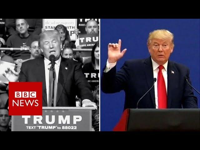 China: President Trump v candidate Trump - BBC News