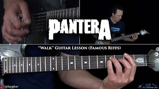 Walk Guitar Lesson w/ Onscreen Tab - Pantera