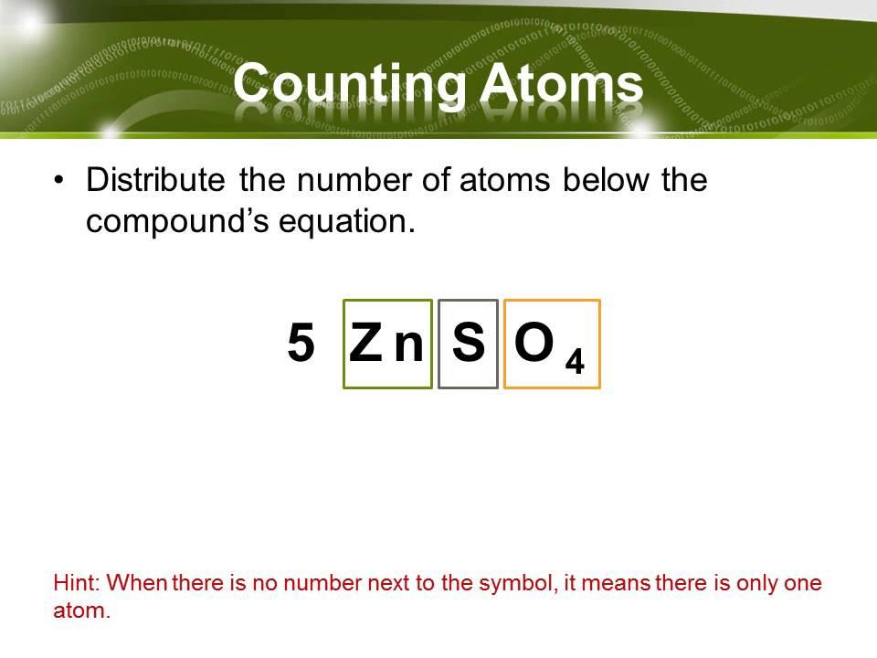 Counting Atoms Etamemibawa
