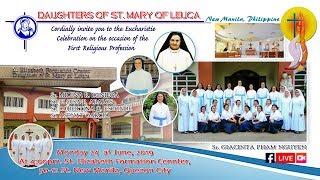 ( LIVE ) Daughters of St. Mary of Leuca / Thánh Lễ Tạ Ơn Khấn Dòng Chị em Con Đức Mẹ Thành Leuca