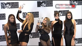 Fifth Harmony show off their Awards in the press room at 2016 MTV Video VMAs