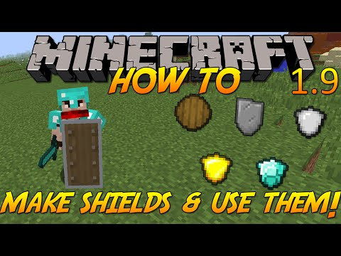 Minecraft 1.9 | How To: Craft Shields & Use Them!