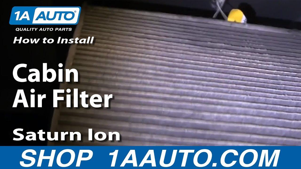 saturn sl2 cabin air filter location