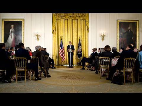President Obama at the 2010 Easter Prayer Breakfast